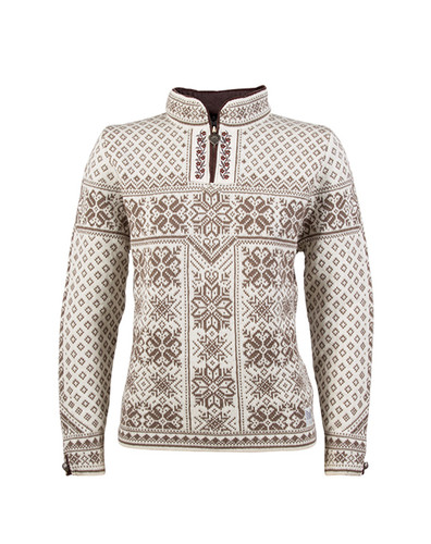 Dale of Norway, ladies Peace sweater in Warm Taupe/Off White, 13311-D