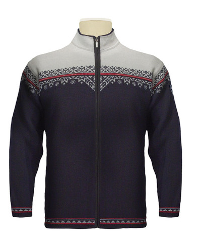 Dale of Norway, Nordly cardigan, mens, in Navy/Raspberry/Off White, 81831-C, on sale at The Nordic Shop