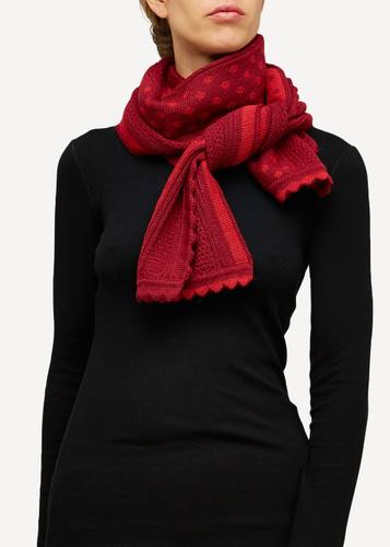 Lilly Oleana Alpaca Scarf, 405R Red