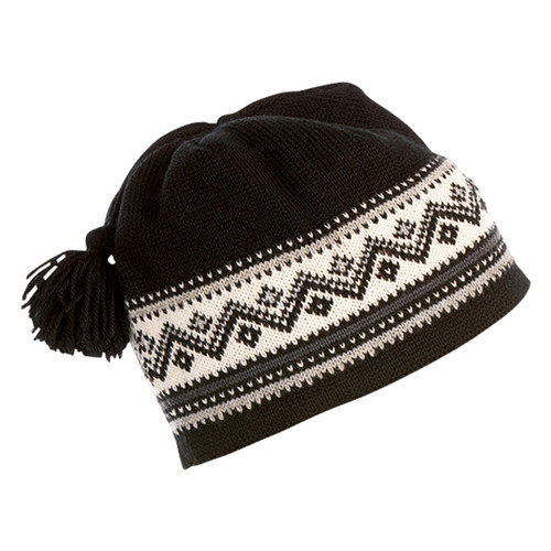 Dale of Norway Vail Unisex Hat in Black/Dark Grey/Metal/Off White, 40331-F