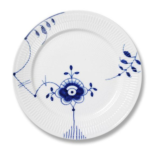 "Royal Copenhagen Blue Fluted Mega Dinner Plate No. 6, 10.75"""