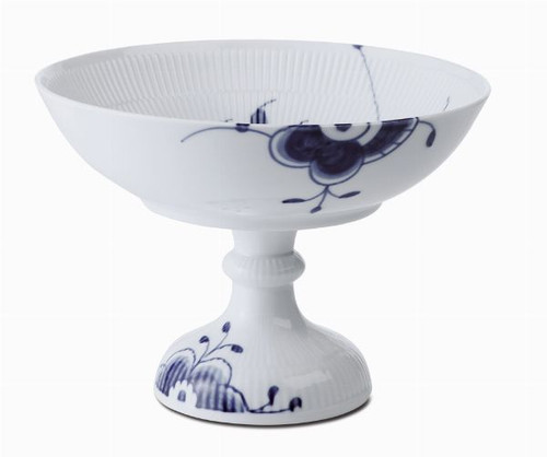 Royal Copenhagen Blue Fluted Mega Bowl on Foot, 5.5""
