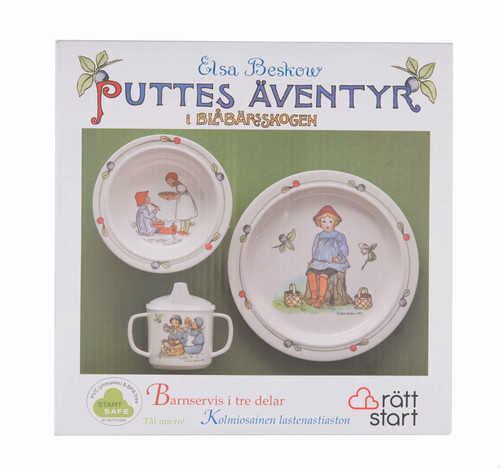 eter in Blueberry Land - Children's Dish Set