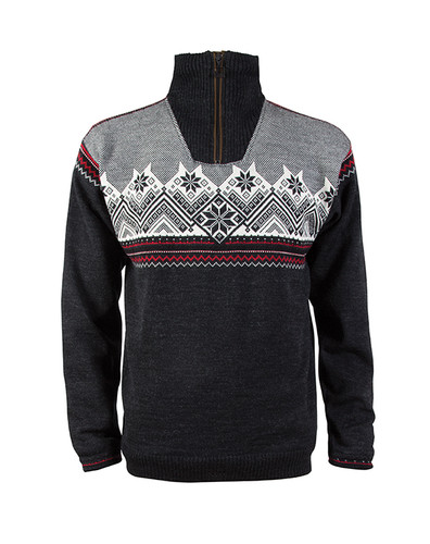 Dale of Norway's Glittertind Sweater, Mens, in Dark Charcoal/Raspberry/Black/Off White, 92881-E
