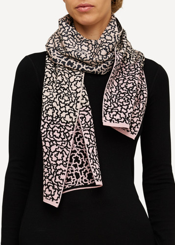 Ella Oleana Patterned Shawl, 319V Light Pink