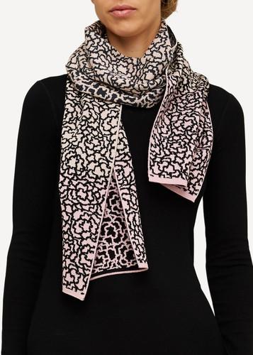 Ella Oleana Patterned Shawl, 319V Light Pink