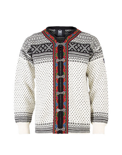 Dale of Norway Setesdal Cardigan - Off White/Black, 80381-A