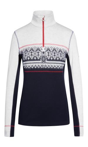 Dale of Norway Moritz Basic Women's Sweater (Base Layer), Navy/White/Raspberry, 92681-C