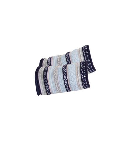 Dale of Norway Vinje scarf in Navy/Beige/Metal/Light Blue/Off White, 25010-D