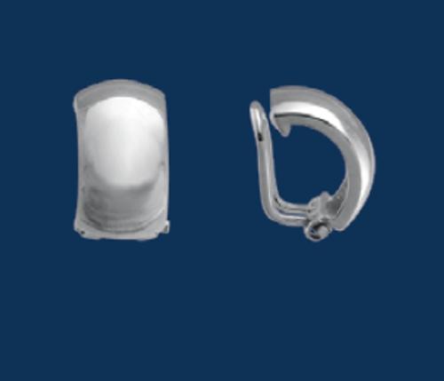 Dome Half Hoop Earrings- Clip, Danish Silversmiths