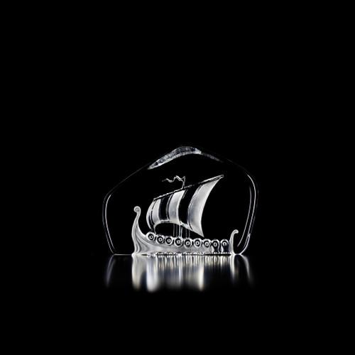 Mats Jonasson Medium Clear Viking Ship