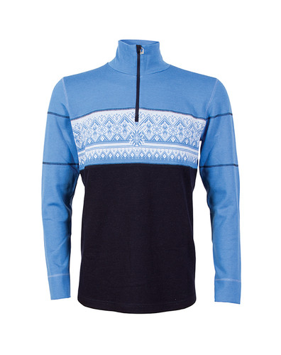 Dale of Norway, Mens, Rondane Pullover, Mens, in Navy/White Mel/Sky Blue, 92691-H