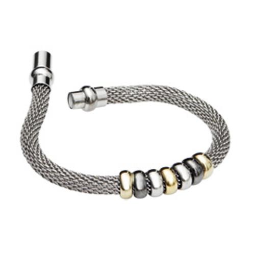 Danish Silversmiths Silver & Gold Bead Bracelet
