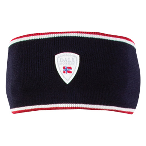 Dale of Norway, Flagg Unisex Headband, in NavyRaspberry/Off White, 22601-C - front view