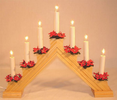 Swedish Welcome 7 Light Candelabra-Natural