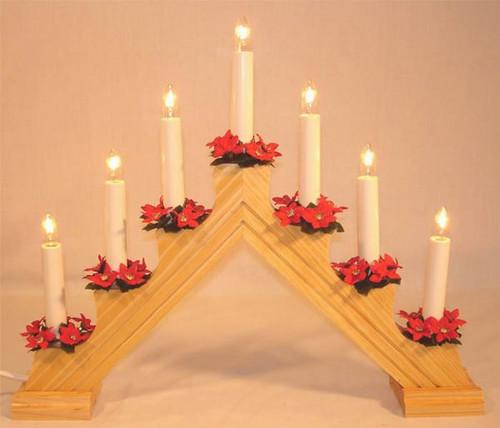 Swedish Welcome 7 Light Candelabra-Natural
