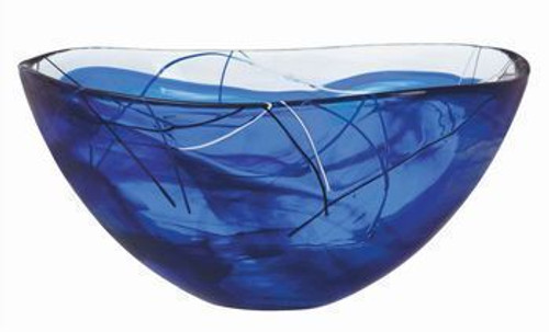 Kosta Boda Contrast Blue Bowl - Large