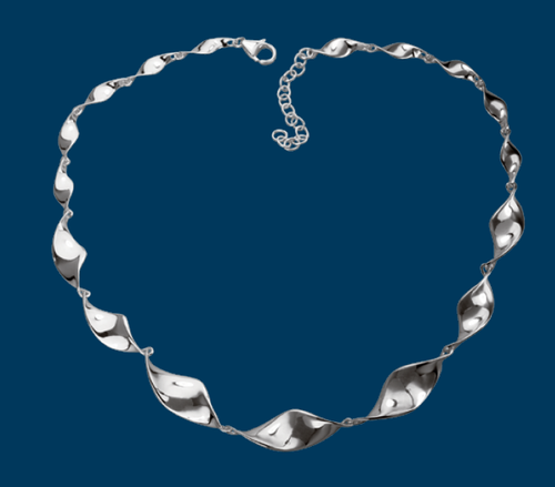 Shiny Twist Necklace, Danish Silversmiths