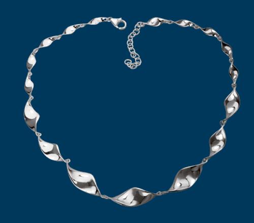 Shiny Twist Necklace, Danish Silversmiths