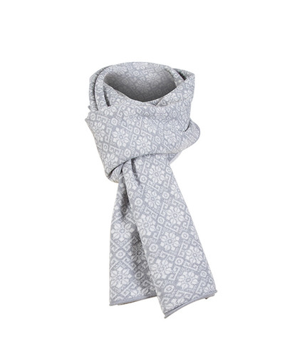 Dale of Norway, Sonja scarf in Light Grey/Off White, 10961-A