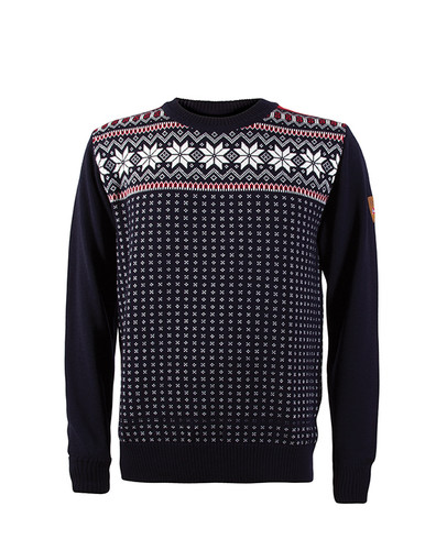 Dale of Norway, Garmisch Sweater, Mens, in Navy/Off White/Raspberry, 92611-C