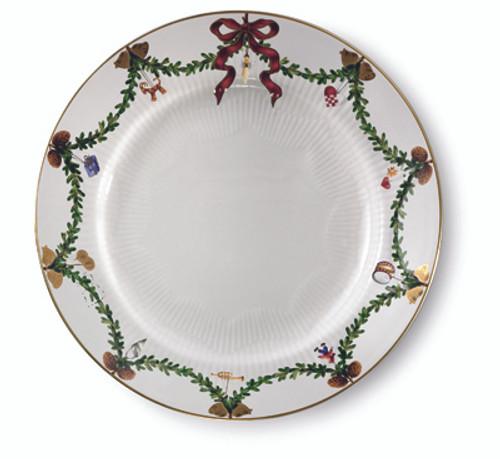 Royal Copenhagen Star Fluted Christmas Dinner Plate