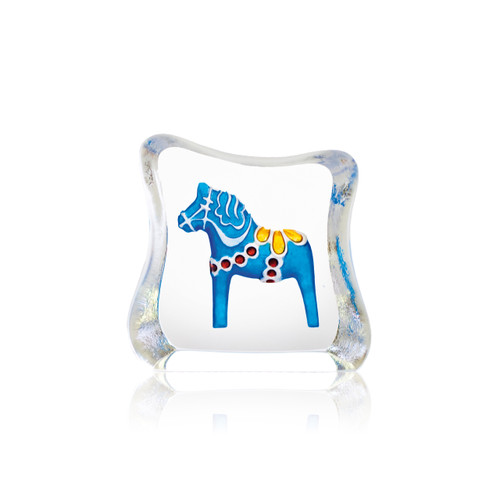 Mats Jonasson Miniature Blue Dala Horse