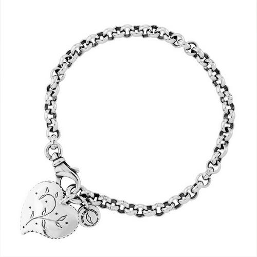 Huldre of Norway - Huldre Heart Dangle Bracelet, 5mm