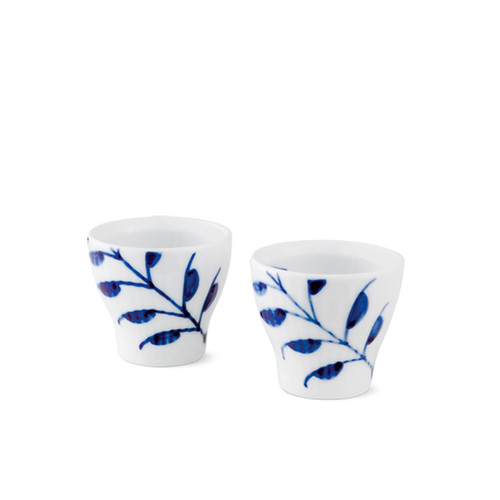 Royal Copenhagen Blue Fluted Mega Egg Cup, 2 pack