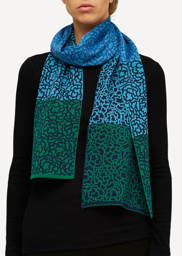 Ella Oleana Patterned Shawl, 319G Green
