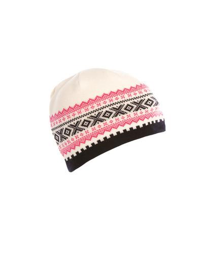 Dale of Norway Kongsvollen Hat, Ladies - Off White/Navy/Allium, 40591-A