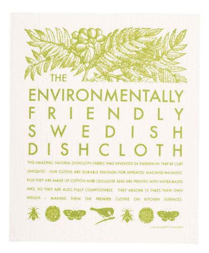 Swedish dish cloth, Environmental design