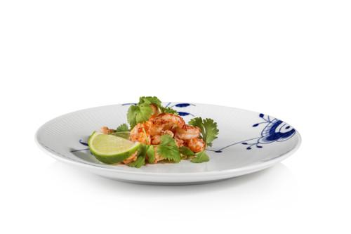 "Royal Copenhagen Blue Fluted Mega 9"" Luncheon Plate"