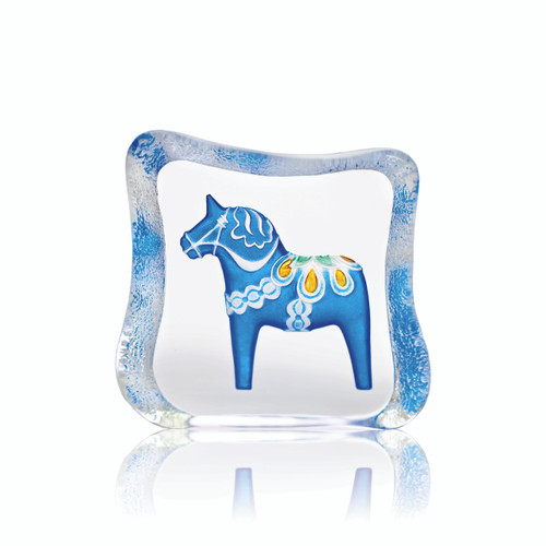 Mats Jonasson Small Blue Dala Horse