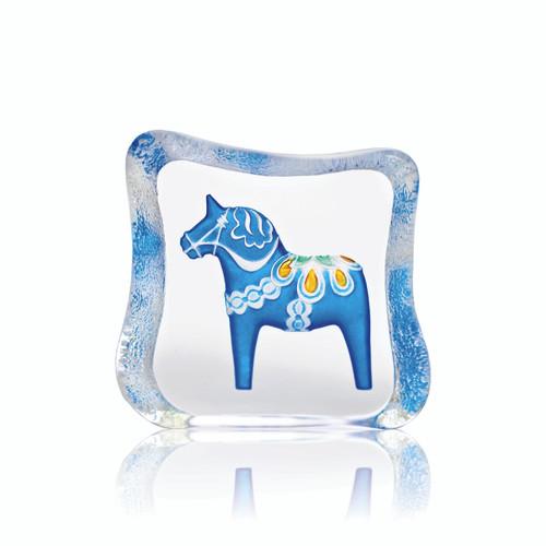 Mats Jonasson Small Blue Dala Horse