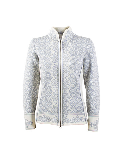 Dale of Norway, Christiania cardigan, ladies in Metal Gray/Off White, 81951-A, on sale at The Nordic Shop