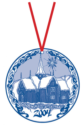 2004 Stav Church Ornament - Nore. Made by Norse Traditions and available at The Nordic Shop.