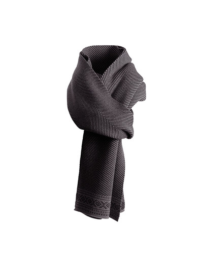 Dale of Norway Harald Unisex Scarf in Black/Dark Charcoal, 10981-F