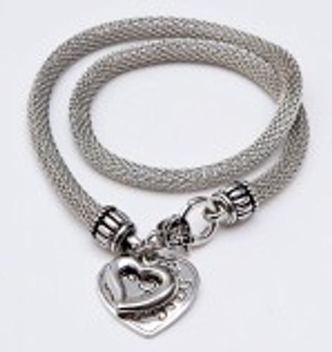Danish Silversmiths Heart Necklace