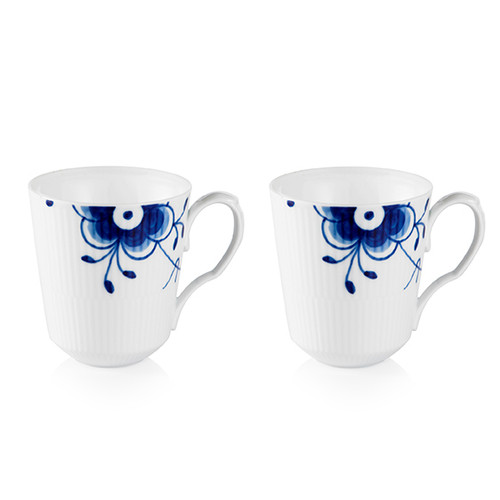 Royal Copenhagen Blue Fluted Mega, Set of 2 mugs, 12.25 oz.