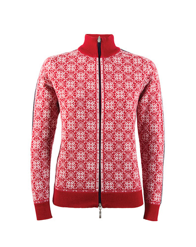 Dale of Norway Frida cardigan, ladies, in Raspberry/Off-White/Navy/Metal, 82931-B, on sale at The Nordic Shop.