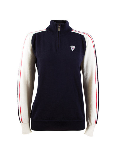 Dale of Norway, Flagg ladies summer windstopper sweater in Navy/Off White/Raspberry, 92951-C