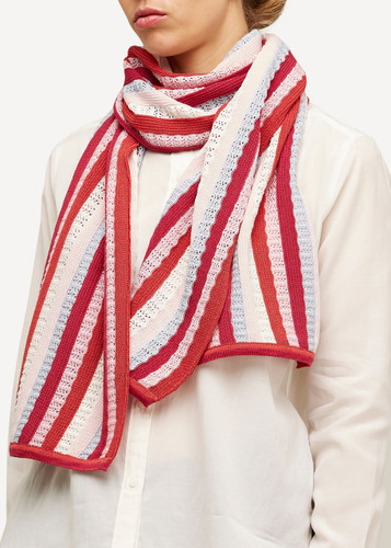 Else Oleana Striped Shawl, 323AV Coral