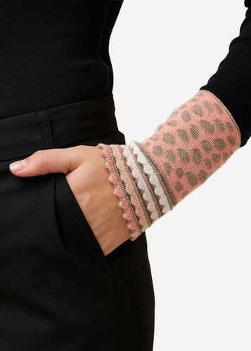 Oleana Dotted Wristlet, 194B Beige