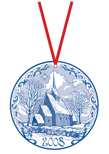 2008 Stav Church Ornament -Hoyjord. Made by Norse Traditions and available at The Nordic Shop.