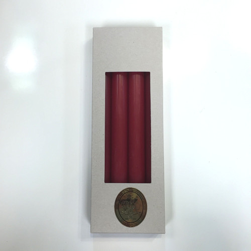 Red Taper Candles, 10""