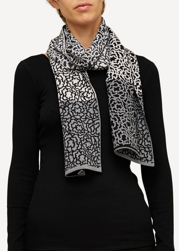 Ella Oleana Patterned Shawl, 319D Grey