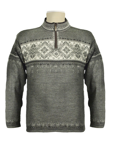 Dale of Norway Blyfjell Sweater - Smoke/Dark Charcoal/Off White/Light Charcoal, 91291-E