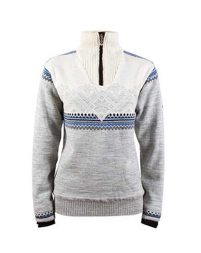 Dale of Norway, Glittertind ladies sweater in Light Charcoal/Navy/Cobalt/Off White, 92981-E