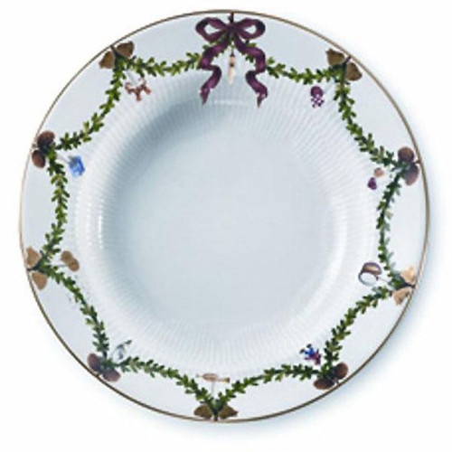 Royal Copenhagen Star Fluted Christmas Large Soup Plate
